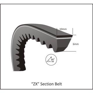 Keilriemen ZX 47 - X 10 x 1190 Li, 1212 Lw
