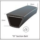 Keilriemen 32x 3150 Li, Profil D 124