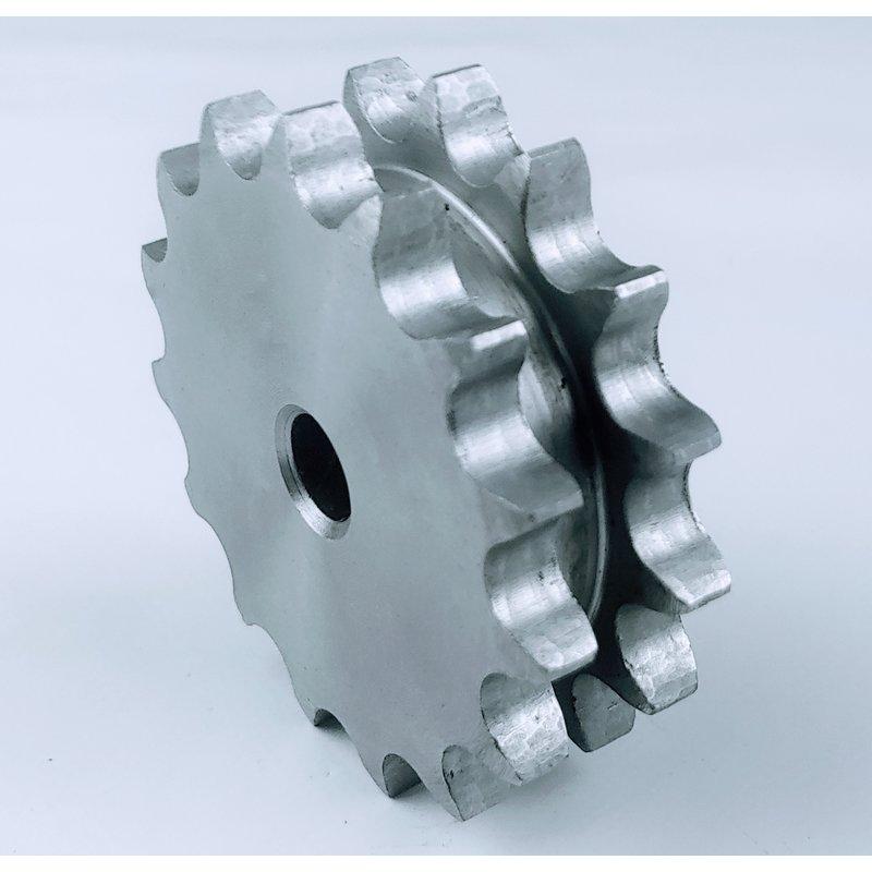Kettenradscheibe zweifach Typ 08 B-2,1//2 Zoll x 5//16 Zoll 8-100 Zähne wählbar